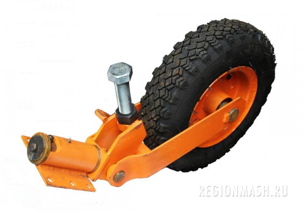 Стойка колеса в сборе для щёточного оборудования.